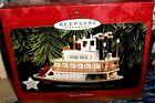 Santa's Steamboat`1997`Captain Santa Waves From Pilothouse,Hallmark Ornament-NEW