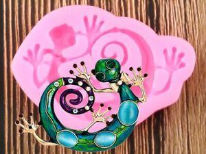 moule resine lézard salamandre pendentif bijoux  eposy