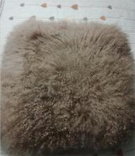 100% Real Mongolian Lamb Wool Fur Cushion Protector Soft Pillowcase 16x16inch