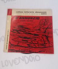 DISCO 33 1/3 GIRI - VINILE D'Annunzio letto da Paolo Carlini Fonit Cetra 1959