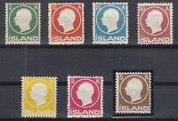 E3086/ ICELAND – MI # 69 / 75 COMPLETE MINT – CV 330 $
