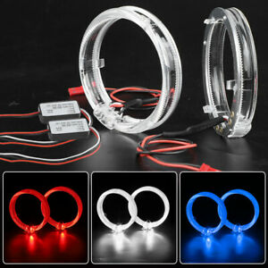 LED Angel Eyes Light Guide Halo Ring 80mm For Projector Lens Headlight Retrofit