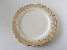 "AYR Brownfield & Son China England Gold Floral Rim, Scalloped - 10"" DINNER PLATE"