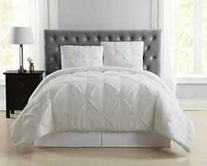 Truly Soft Everyday Pleated Comforter Set, Twin X-Large, Light Blue