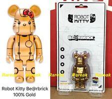 Medicom Be@rbrick 2017 Action City 100% Robot Hello Kitty Gold ver. Bearbrick 1p