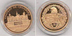 Médaille contemporaine Française Chateau de Chambord