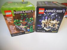 LEGO Minecraft Sets Ideas Micro World 21102 + The End 21107 ~ NEW