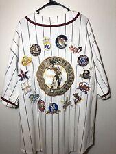 Negro League NLBM Sewn Stitched Baseball Jersey Multi Team Patch Logos Sz 4x!
