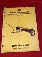 1962 New Holland 408-410 Fertilizer Distributor Service Parts Catalog Manual