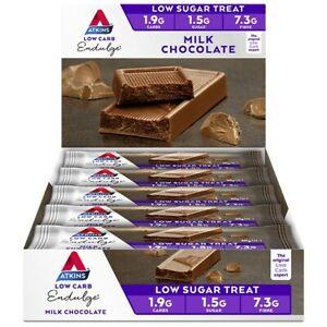 Atkins Low Carb Endulge Bars 15 x 30g - Milk Chocolate Low Sugar Treat Indulge