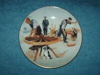 coalport plate the wheelwright rural crafts series 19.5 cm wide