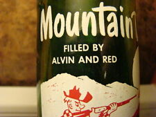 Mountain Dew  FILLED BY ALVIN AND RED Vintage Hillbilly Bottle 1964