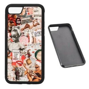 Vintage Pinup Collage RUBBER phone case fits iPhone