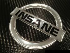 CHROME INSANE NISSAN BADGE Emblem for RB25 RB26 Skyline R32 R33 R34  GTR Bonnet