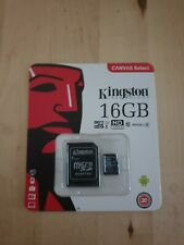 16GB Kingston Micro SD card with SD adapter UHS Class 1