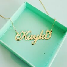 10 carat Gold chain 9 ct Gold chain,  Gold name necklace  Personalized neckless