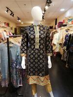 Indian Pakistani Shalwar Kameez Salwar Saree Suit Dress Designer Kurta Navy Blue