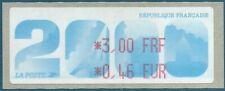 LISA (ATM) *3,00 FRF / *0,46 EUR sur papier 2000 Biennale philatélique de Paris