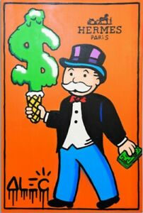 """YA1509 Canvas Alec monopoly graffiti art Hand-painted oil painting Unframed 36"""""""