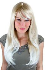 Sexy Perücke blond mit hellblond versetzt glatt Seitenscheitel 3115-24BT613
