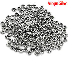 500Pcs Silver Tone Tiny Daisy Spacer Beads Jewelry Diy Findings Charms 3mm