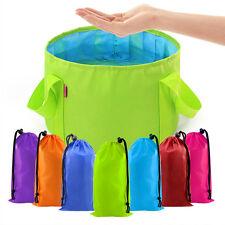 Portable Outdoor Equipment 1 pcs Camping Basin Survival Folding Washbasin