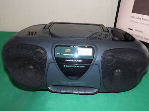 PHILIPS STEREO CD FM RADIO CASSETTE BOOMBOX Vintage AZ8267 3 Band Equalizer