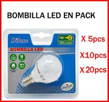 BOMBILLA LED 7W CASQUILLO PEQUEÑO E14 LUZ BLANCA 6400K PACK AHOORO DESDE 5 UDS