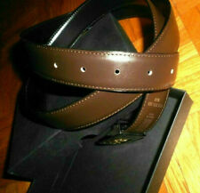 BURBERRY MEN'S BROWN LEATHER BELT Made in Italy originally package
