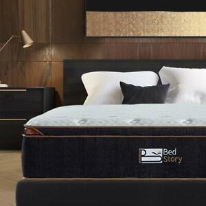 BedStory 12 inch Twin Gel Infused Memory Foam Hybrid Mattress Pocket Coil Bed