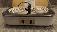 Vtg 50s Kemco Electric Hot Plate (2) Dual Burner Stove NEW OLD STOCK 1650 Watt