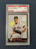 1987 Fleer All-Stars #11 ROGER CLEMENS Red Sox PSA 9 mint
