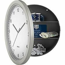 Clock Safe Hidden Wall Secret Jewelry Security Money Cash Compartment Stash Box