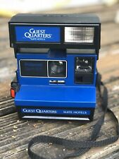 Vtg Polaroid Spirit 600 Instant Camera Guest Quarters Suite Hotels Black Blue