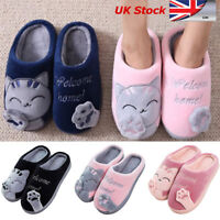 Winter Warm Cute Cat Paw Cotton Fleece Slippers Home Family Indoor Shoes UK Sell