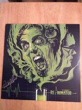SIGNED - Re-Animator Green Vinyl LP Richard Band + Poster, Pic