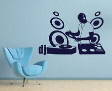 Wandtattoo Wandaufkleber Sticker Disco Lounge Musik DJ