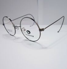 44mm Antique Vintage Round Dark Grey Wire Rim Eyeglass Frame Spectacles Rx-able