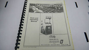 Vintage ASTRON BELT Parts and Operating Manual 1983 by Bally with schematics