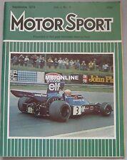 Motor Sport 09/1974 featuring Ginetta G21S, Reliant Scimitar GTE, Ford Capri