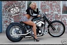 Bobber Chopper Big Dog Motorcycle Girl Banner Sign Flag #1 High Quality!!