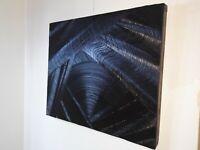 Peinture a l`huile tableau moderne et contemporain format 60/51 cm