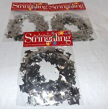Garland Silver Reindeer Christmas Metallic Wire Set of 3 New in Package 27 ft