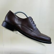 Bostonian Mens Dark Brown Leather Apron Toe Oxford Shoes Sz 9.5 W #B10