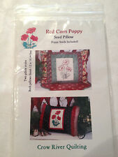 Red Corn Poppy Seed Pillow Pattern by Crow River Quilting 12x16 Finished Size