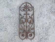 Antique Grid Window Cast-Iron With Cross Christian Flowers Cob 19ème