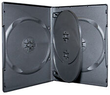 10x Quad Hold 4 Black DVD CD Cover Cases 14mm - Holds 4 Discs