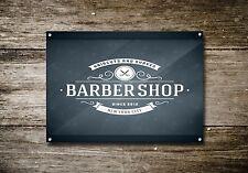 Barber SHOP Metallo Segno Porta Muro ARTE Arredamento foto segnaletica VINTAGE PLACCA A4 718