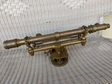 W&Le Gurley Brass Surveying Transit Level Scope Complete & Beautiful