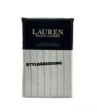 Ralph Lauren Spencer Stripe 230 TC Cotton Sateen STANDARD Pillowcases Sage